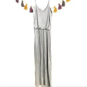 Exist Jersey knit Maxi Dress Gray Large